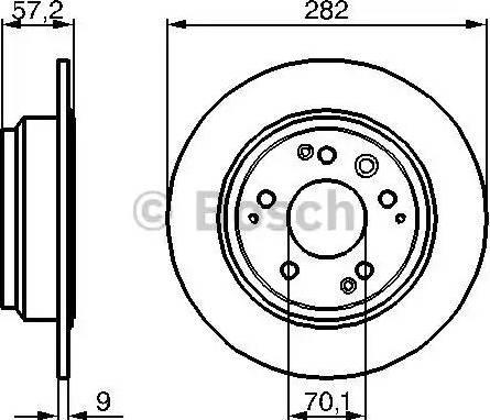 BOSCH 0 986 479 017 - Bremžu diski interparts.lv