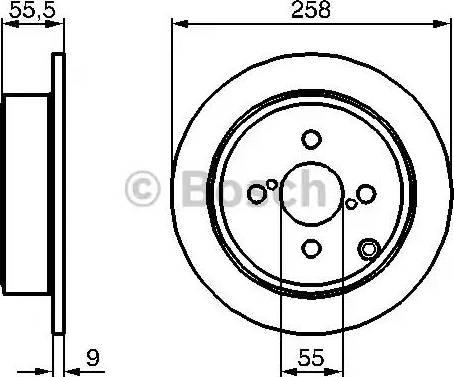 BOSCH 0 986 479 086 - Bremžu diski interparts.lv