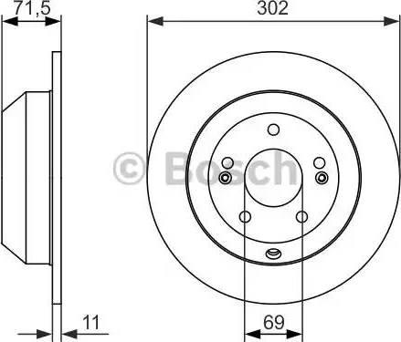 BOSCH 0 986 479 081 - Bremžu diski interparts.lv