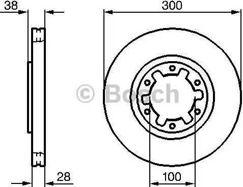 BOSCH 0 986 479 031 - Bremžu diski interparts.lv