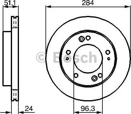 BOSCH 0 986 479 020 - Bremžu diski interparts.lv