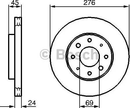 BOSCH 0 986 479 140 - Bremžu diski interparts.lv