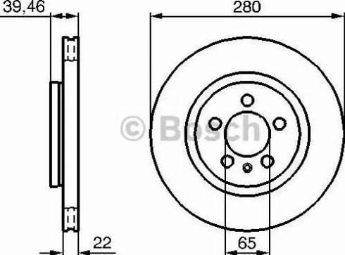 BOSCH 0 986 479 156 - Bremžu diski interparts.lv