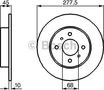 BOSCH 0 986 479 105 - Bremžu diski interparts.lv