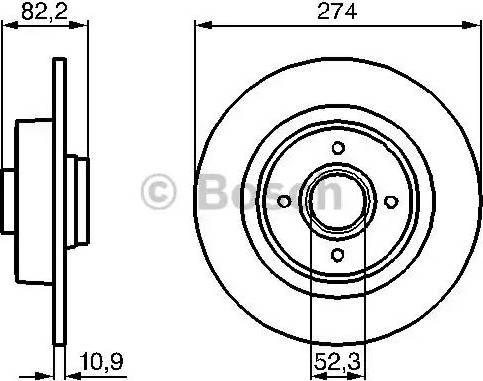 BOSCH 0 986 479 108 - Bremžu diski interparts.lv