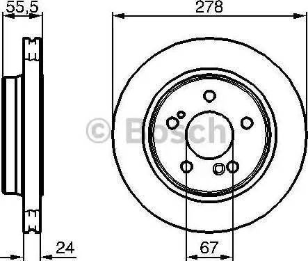 BOSCH 0 986 479 133 - Bremžu diski interparts.lv