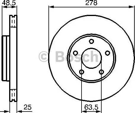 BOSCH 0 986 479 173 - Bremžu diski interparts.lv