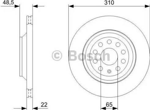 BOSCH 0 986 479 303 - Bremžu diski interparts.lv