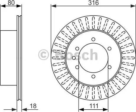 BOSCH 0 986 479 385 - Bremžu diski interparts.lv