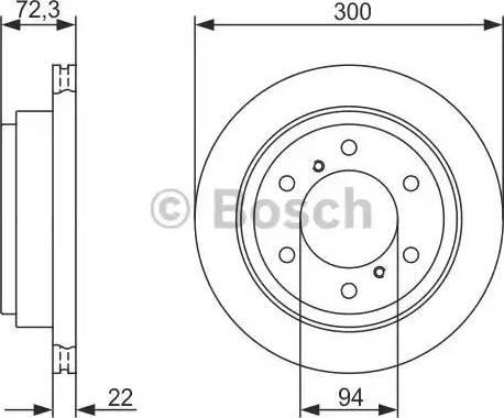 BOSCH 0 986 479 373 - Bremžu diski interparts.lv