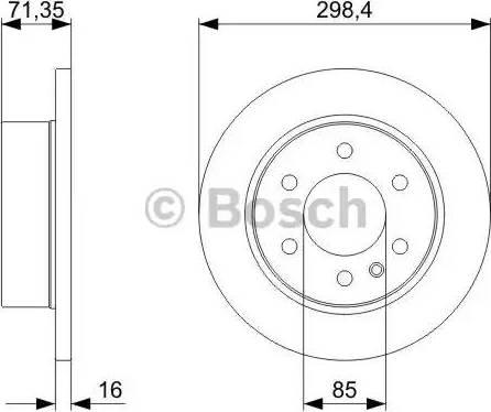 BOSCH 0 986 479 295 - Bremžu diski interparts.lv