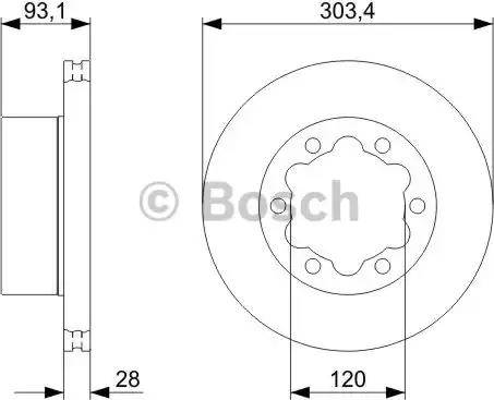 BOSCH 0 986 479 296 - Bremžu diski interparts.lv