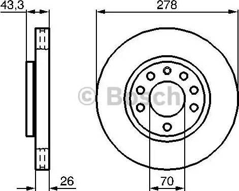 BOSCH 0 986 479 262 - Bremžu diski interparts.lv