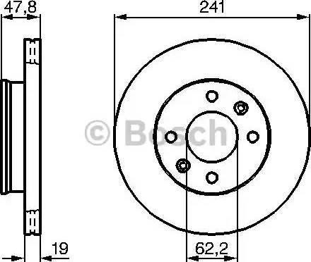 BOSCH 0 986 479 206 - Bremžu diski interparts.lv