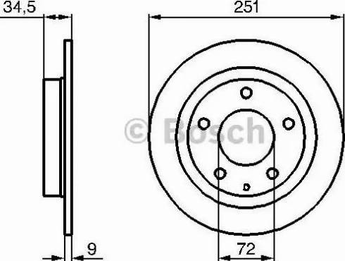 BOSCH 0 986 479 208 - Bremžu diski interparts.lv