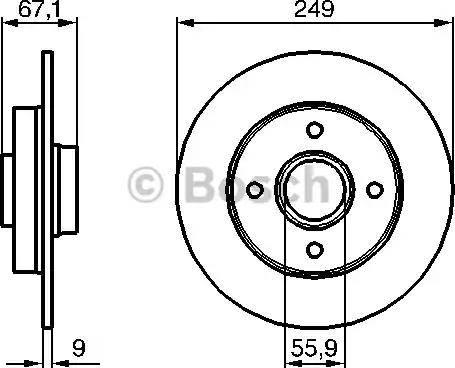 BOSCH 0 986 479 219 - Bremžu diski interparts.lv