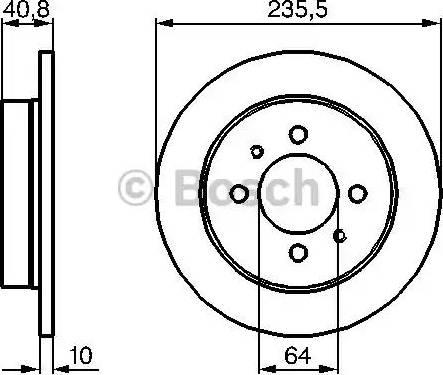 BOSCH 0 986 479 237 - Bremžu diski interparts.lv
