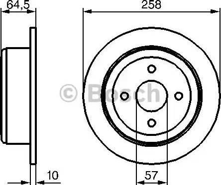 BOSCH 0 986 479 220 - Bremžu diski interparts.lv