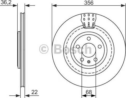 BOSCH 0 986 479 749 - Bremžu diski interparts.lv