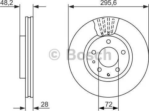 BOSCH 0 986 479 758 - Bremžu diski interparts.lv