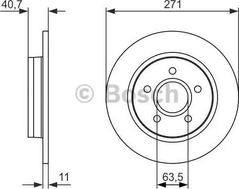 BOSCH 0 986 479 763 - Bremžu diski interparts.lv
