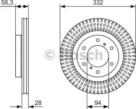 BOSCH 0 986 479 782 - Bremžu diski interparts.lv