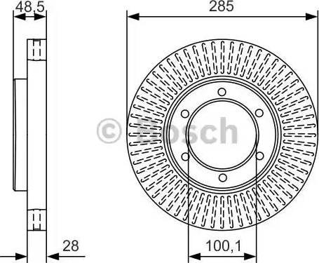 BOSCH 0 986 479 A95 - Bremžu diski interparts.lv