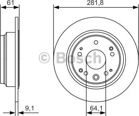 BOSCH 0 986 479 A91 - Bremžu diski interparts.lv