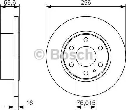 BOSCH 0 986 479 A51 - Bremžu diski interparts.lv