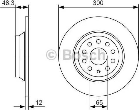 BOSCH 0 986 479 A84 - Bremžu diski interparts.lv