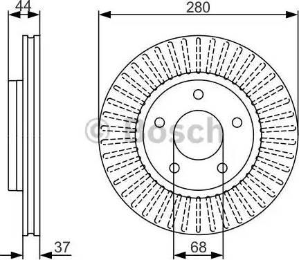 BOSCH 0 986 479 A28 - Bremžu diski interparts.lv