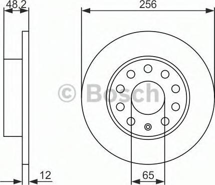 BOSCH 0 986 479 B78 - Bremžu diski interparts.lv