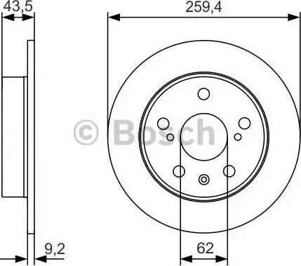 BOSCH 0 986 479 C44 - Bremžu diski interparts.lv