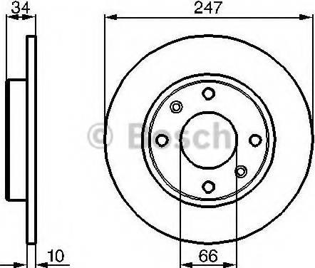 BOSCH 0 986 479 C54 - Bremžu diski interparts.lv