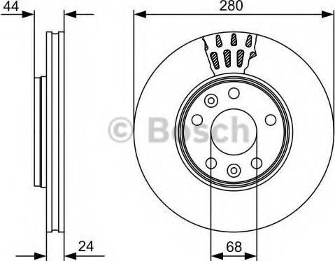 BOSCH 0 986 479 C62 - Bremžu diski interparts.lv