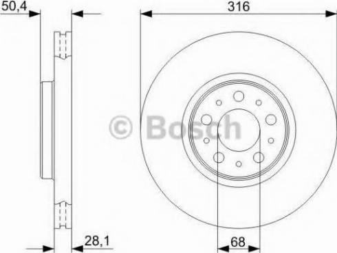 BOSCH 0 986 479 C85 - Bremžu diski interparts.lv