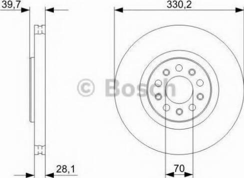 BOSCH 0 986 479 C82 - Bremžu diski interparts.lv