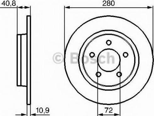 BOSCH 0 986 479 C79 - Bremžu diski interparts.lv