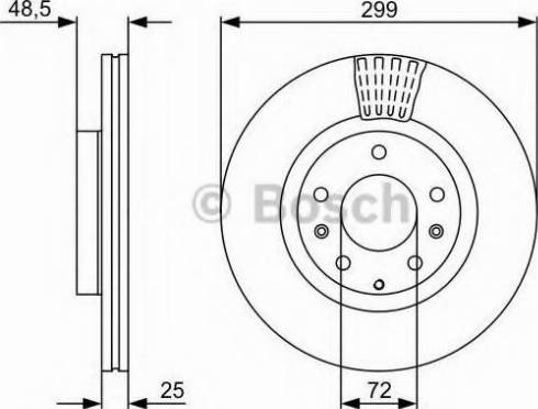 BOSCH 0 986 479 C74 - Bremžu diski interparts.lv