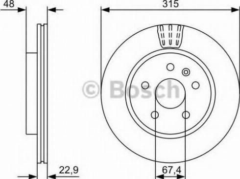 BOSCH 0 986 479 C71 - Bremžu diski interparts.lv