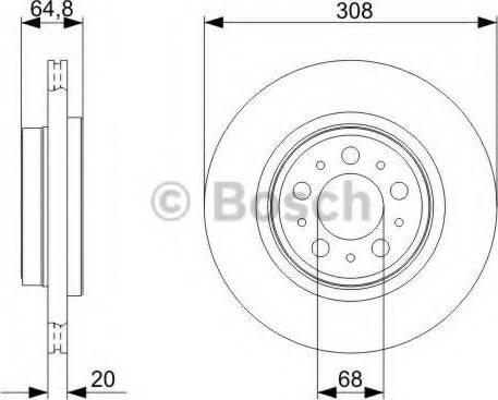 BOSCH 0 986 479 C78 - Bremžu diski interparts.lv