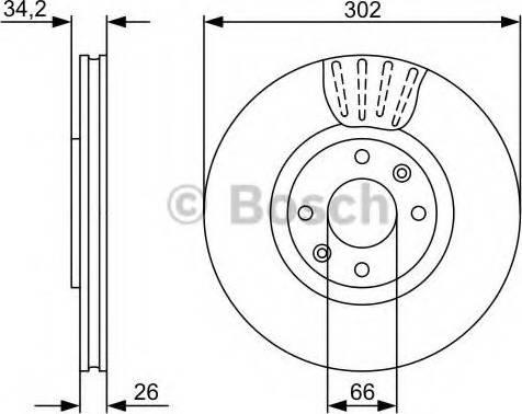 BOSCH 0 986 479 C72 - Bremžu diski interparts.lv