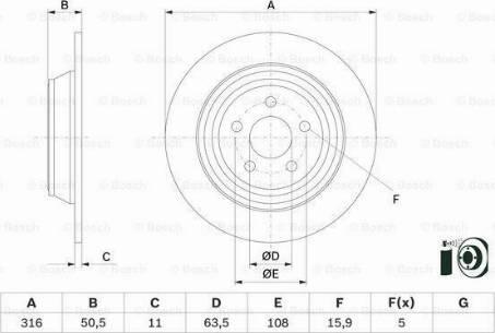 BOSCH 0 986 479 D47 - Bremžu diski interparts.lv