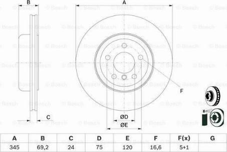 BOSCH 0 986 479 D59 - Bremžu diski interparts.lv