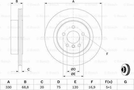 BOSCH 0 986 479 D58 - Bremžu diski interparts.lv