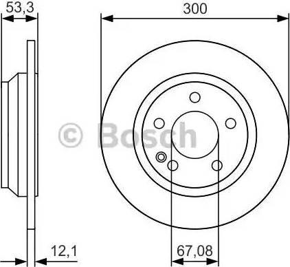 BOSCH 0 986 479 D12 - Bremžu diski interparts.lv