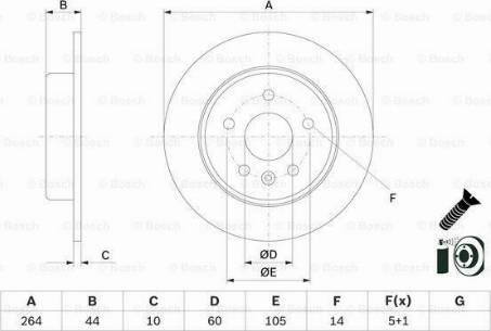 BOSCH 0 986 479 D89 - Bremžu diski interparts.lv