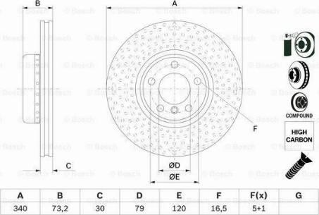 BOSCH 0 986 479 E11 - Bremžu diski interparts.lv