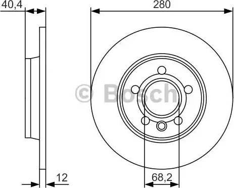 BOSCH 0 986 479 R91 - Bremžu diski interparts.lv