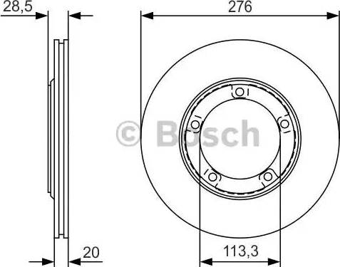 BOSCH 0 986 479 R59 - Bremžu diski interparts.lv